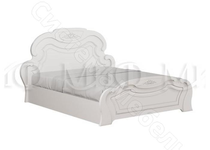 Модульная спальня Александрина - Кровать 1,6 м. Белый глянец