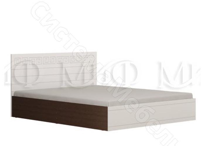 Модульная спальня Афина - Кровать 1,4 м. Белый глянец/Венге