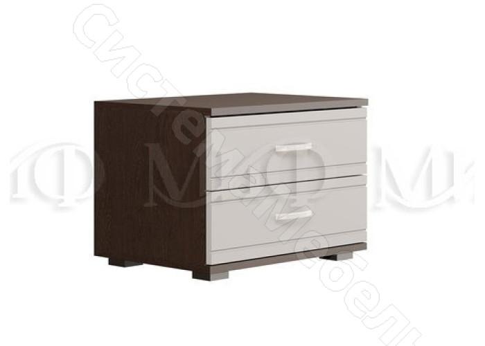 Модульная спальня Афина - Тумба. Белый глянец/Венге