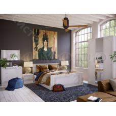 Модульная спальня Афина 1 - Белый глянец/Белый. До 6 модулей