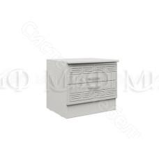 Модульная спальня Афина 1 - Тумба. Белый глянец/Белый