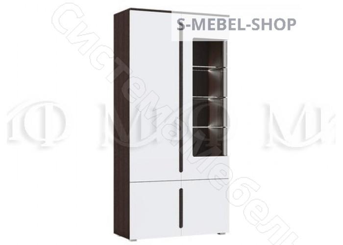 Модульная спальня Ким - Шкаф с подсветкой. Белый глянец/Дуб сонома
