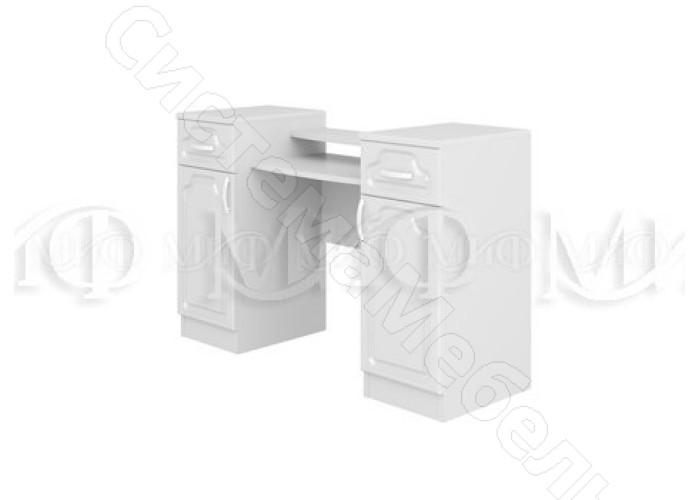 Модульная спальня Натали - Туалетный стол. Белый глянец/Белый