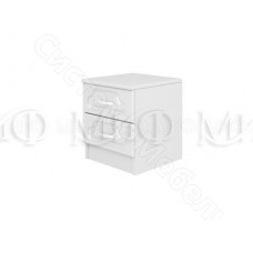 Модульная спальня Натали - Тумба. Белый глянец/Белый