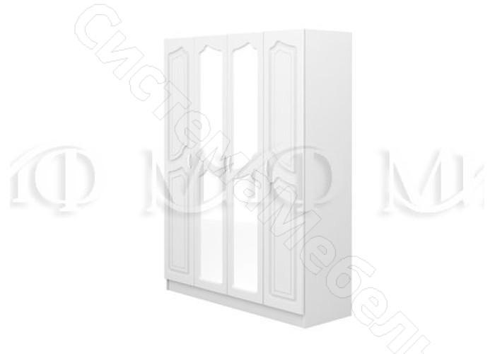 Модульная спальня Натали - Шкаф 4-х ств. Белый глянецБелый
