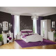 Модульная спальня Натали 1 - Белый глянец/Белый. До 7 модулей