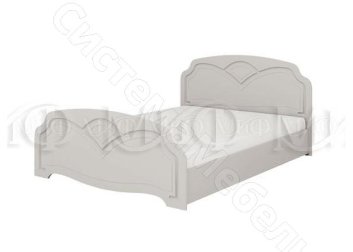 Модульная спальня Натали 1 - Кровать 1,4 м. Белый глянец
