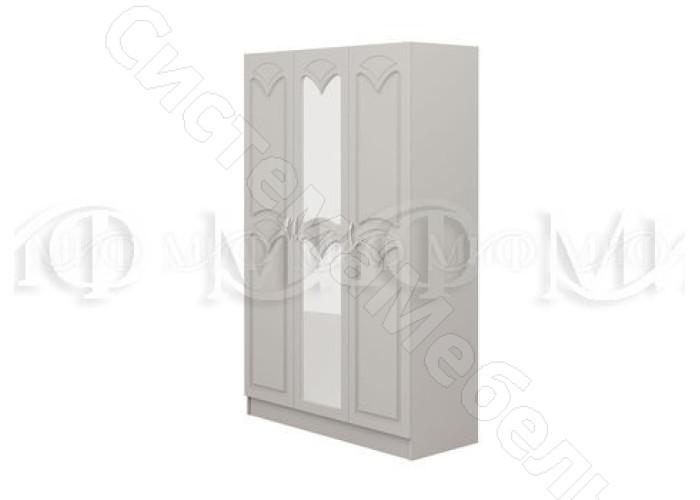 Модульная спальня Натали 1 - Шкаф 3-х ств. Белый глянец