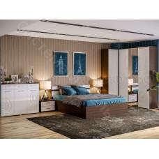 Модульная спальня Ника - Белый глянец/Венге. До 12 модулей