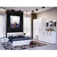 Модульная спальня Нэнси новая - Белый глянец/Белый. До 8 модулей