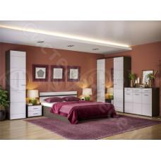 Модульная спальня Нэнси - Белый глянец/Венге. До 10 модулей