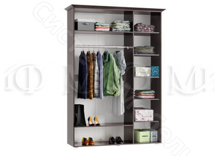 Модульная спальня Престиж - Шкаф 3-х ств. Шоколад/Венге