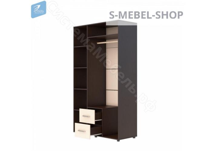 Шкаф 3-х створчатый Эва - Венге/Дуб молочный