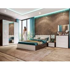 Спальня Афина - Белый глянец/Венге. 6 модулей