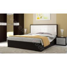Модульная спальня Луиза - Кровать 2-спальная. Дуб венге/Белый глянец