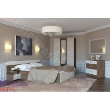 Модульная спальня Флоренция - Ясень шимо темный/светлый. До 4 модулей
