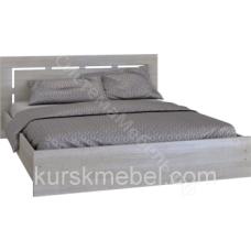 Спальня Комфорт - Кровать 1710. Сантана сокат/Беленый дуб