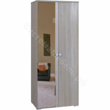 Спальня Комфорт - Шкаф 2-х дверный с 1 зеркалом. Беленый дуб