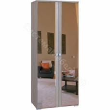 Спальня Комфорт - Шкаф 2-х дверный с 2 зеркалами. Беленый дуб