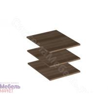 Спальня Берта 1 -  Комплект полок для пенала. Ясень шимо темный
