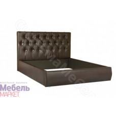 Кровать мягкая Монако - Темная кожа