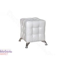 Пуфик с диванной опорой - Светлая кожа