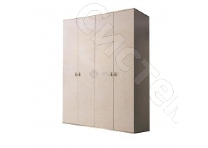 Модульная спальня Римини - Шкаф 4-х дв. без зеркал. Латте/серебро/золото