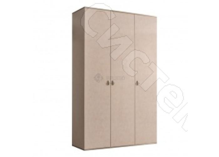 Модульная спальня Римини - Шкаф 3-х дв. (без зеркал). Латте/серебро/золото