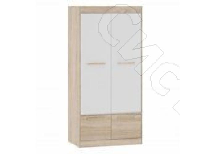 Спальня Оксфорд - Шкаф для одежды. Дуб сонома/Белый глянец