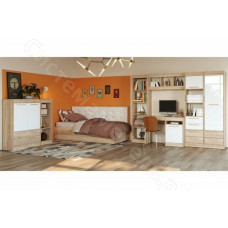 Модульная спальня Оксфорд - Дуб сонома/Белый глянец. До 11 модулей