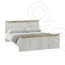 Спальня Прага - Кровать 1600. Дуб серый крафт/Дуб белый крафт