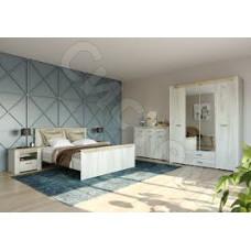 Спальня Прага - Дуб серый крафт/Дуб белый крафт. До 4 модулей
