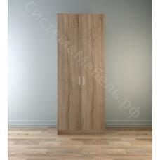 Шкаф 2-х дверный с ящиками Лофт 800 - Дуб сонома