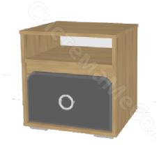 Детская Скай - Тумба N12. Графит/Дуб бунратти