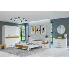 Спальня Милана  - 4 модуля. Белый/Сосна Гранд