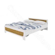 Спальня Милана - Кровать. Белый Сосна/Гранд