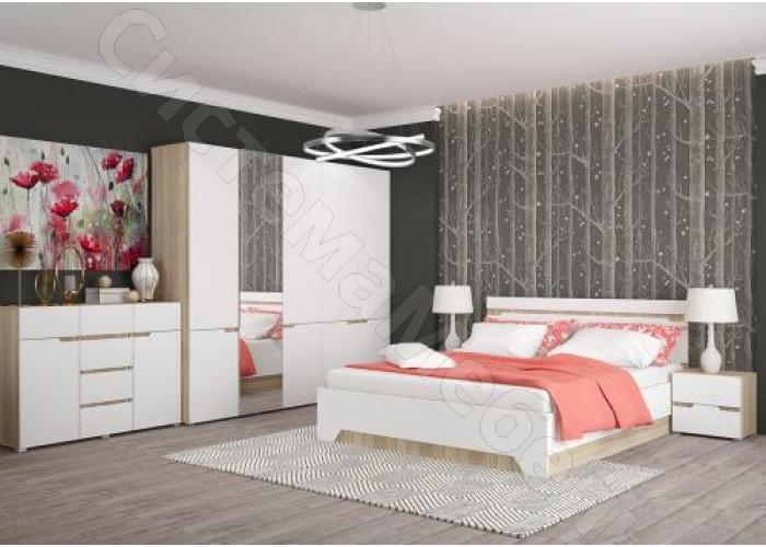 Спальня Анталия - 5 модулей. Сонома/Белый Софт