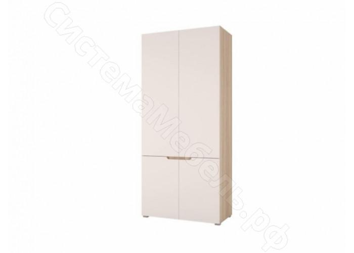 Спальня Анталия - Шкаф 2-х ств. Сонома/Белый Софт