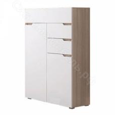 Спальня Анталия - Комод узкий. Сонома/Белый Софт
