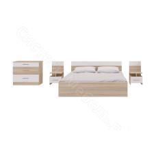 Спальня Леси - Сонома/Белый. 3 модуля