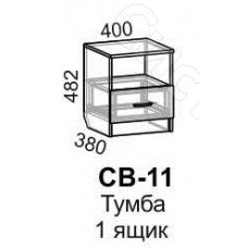 Модульная спальня Светлана - Тумба 1 ящик. Венге/Дуб молочный