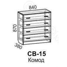 Модульная спальня Светлана - Комод. Венге/Дуб молочный
