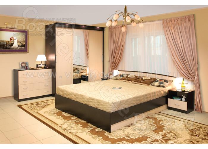 Спальня Светлана - Венге/Дуб молочный. 6 модулей