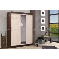 Шкаф купе 3-х дверный - Венге/Дуб молочный