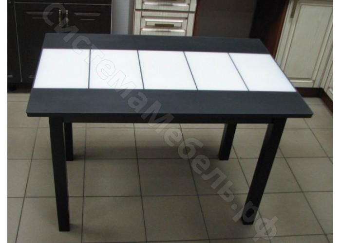 Стол Техно - Черное/белое матовое стекло