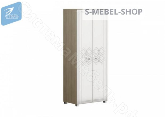 Спальня Амели - Шкаф 2-х ств. Дуб сонома/Белый