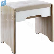 Спальня Палермо 3 - Пуф. Ясень шимо светлый/Белый