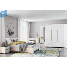 Модульная спальня Палермо 3 - Ясень шимо светлый/Белый. До 17 модулей