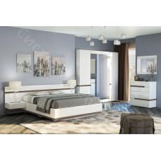 Модульная спальня Ультра - Белый/Белый глянец. До 12 модулей