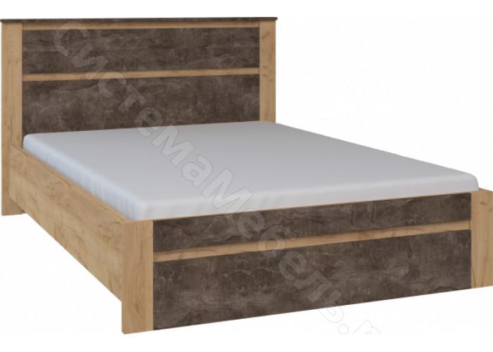 Спальня Ральф - Кровать 1200. Дуб золотой крафт/Ателье темное